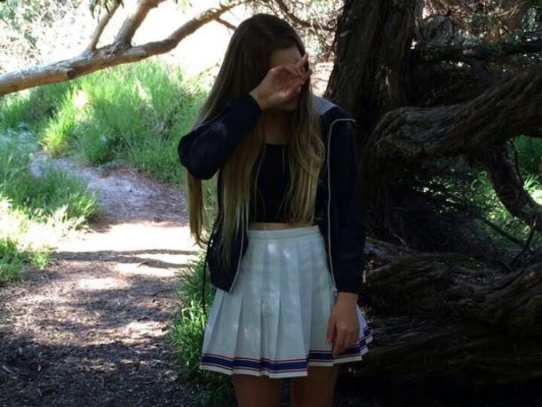 skirt cheerleading school akirt white school skirt