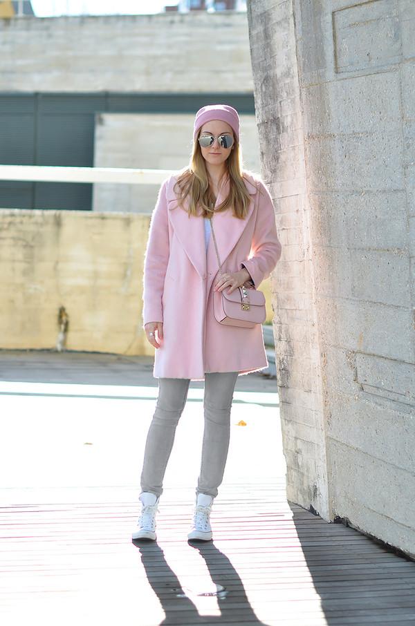oh my vogue coat jeans shoes bag hat sunglasses