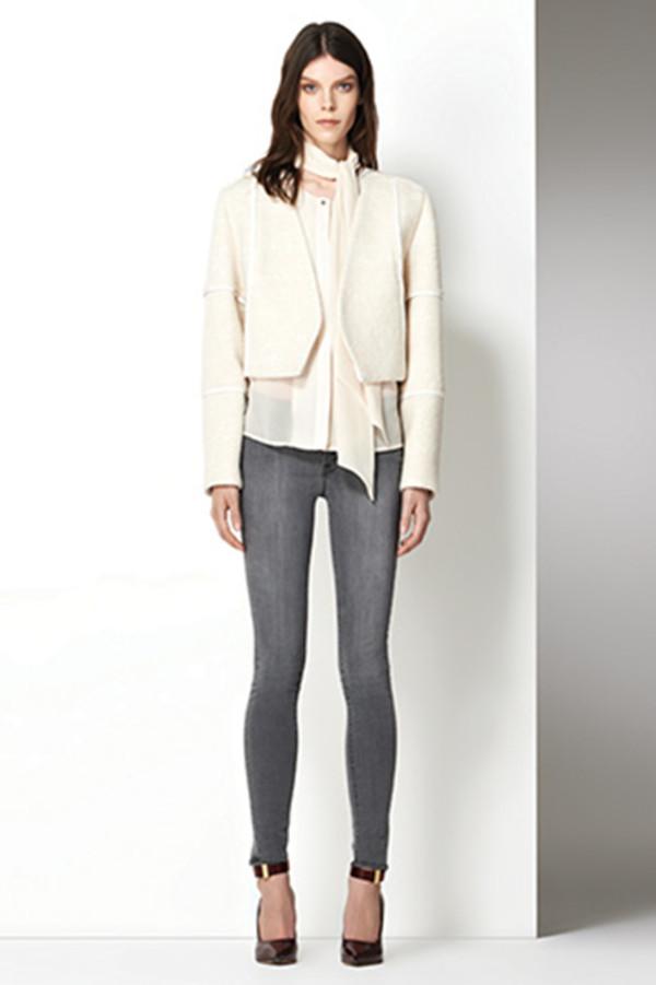 jacket j brand lookbook fashion jeans blouse