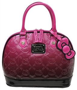 Loungefly Hello Kitty Pink Ombre Patent Embossed Tote Bag