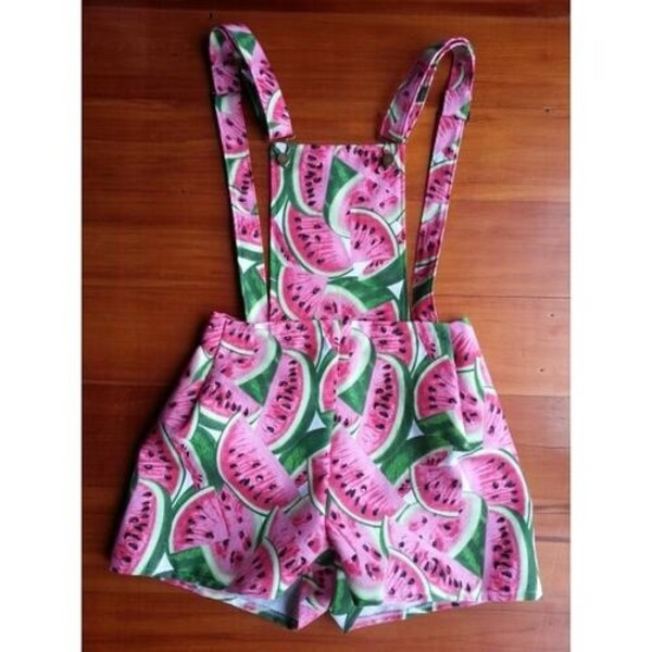 dress watermelon dungarees