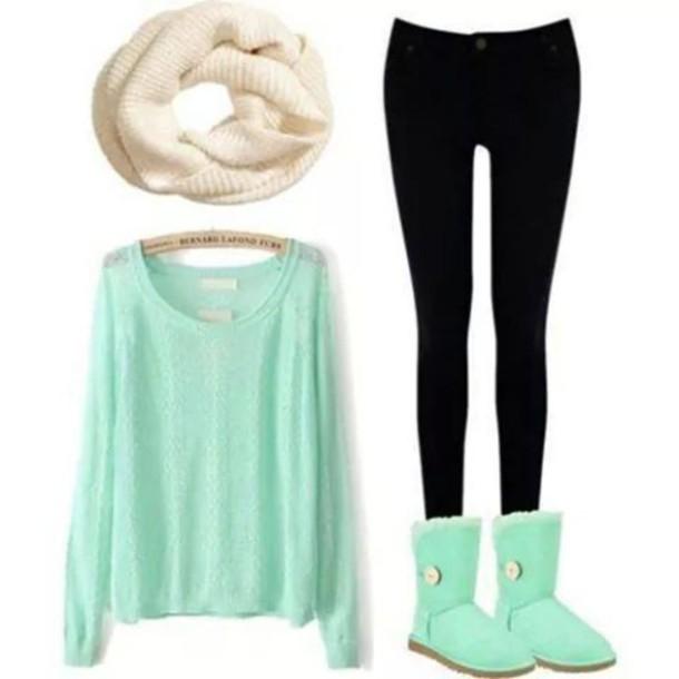 blouse light green