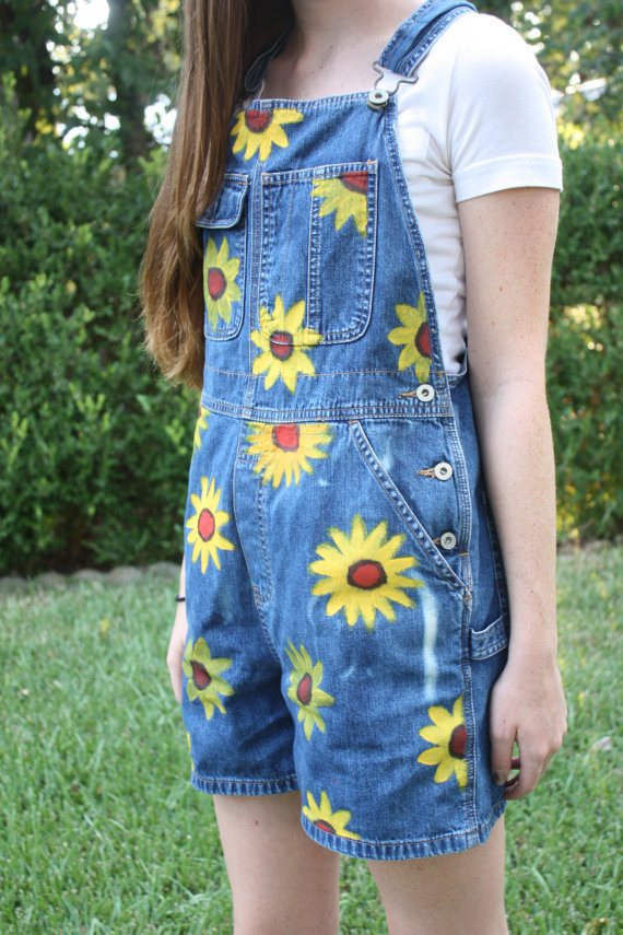 Sunflower Overalls on Wanelo