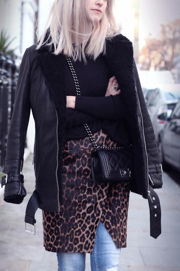 the fashion guitar coat skirt jeans sweater bag