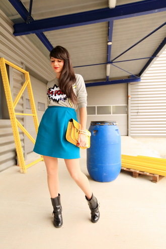 jewels skirt shoes bag sweater the cherry blossom girl