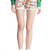 ROMWE | Rolled-cuffs White Floral Shorts, The Latest Street Fashion