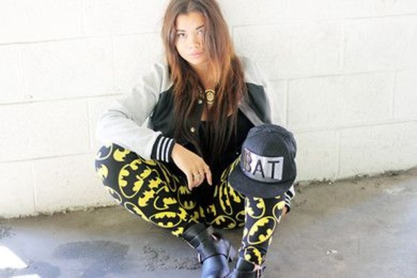 pants snapback batman leggings varsity jacket