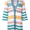 Missoni zig-zag pattern open cardigan, women's, size: 44, white, cotton/viscose