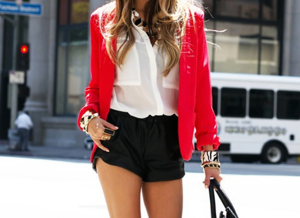 jacket summer spring outfits shorts blouse