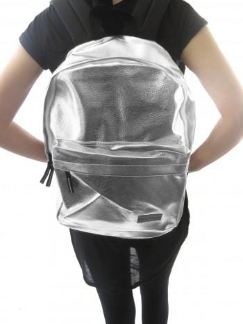 Silver Metallic Backpack :: VampireFreaks Store :: Gothic Clothing, Cyber-goth, punk, metal, alternative, rave, freak fashions
