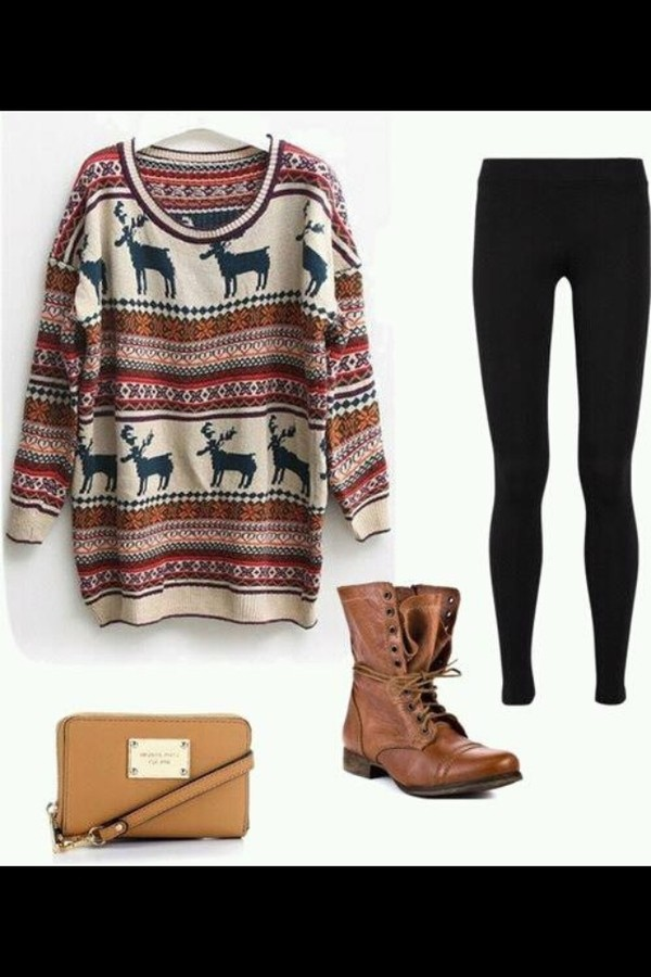 sweater aztec knitwear bag shoes aztec sweater pink oversized sweater