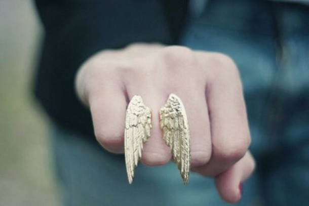 jewels ring wings accessories gold wings ring