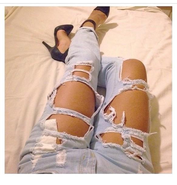 jeans pants ripped jeans ripped jeans black heels high heels heels