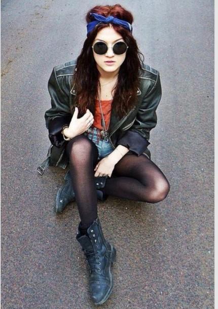 jacket bandana leather jacket boots