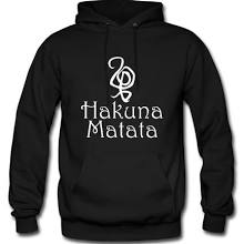 Hakuna Matata Hoodies, Men's Hooded Sweatshirt