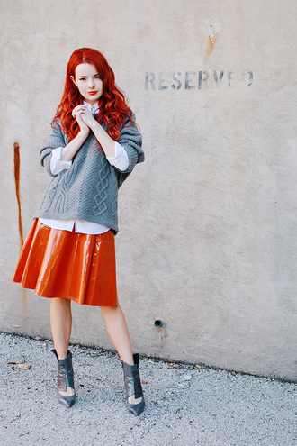 sea of shoes skirt sweater shoes dress