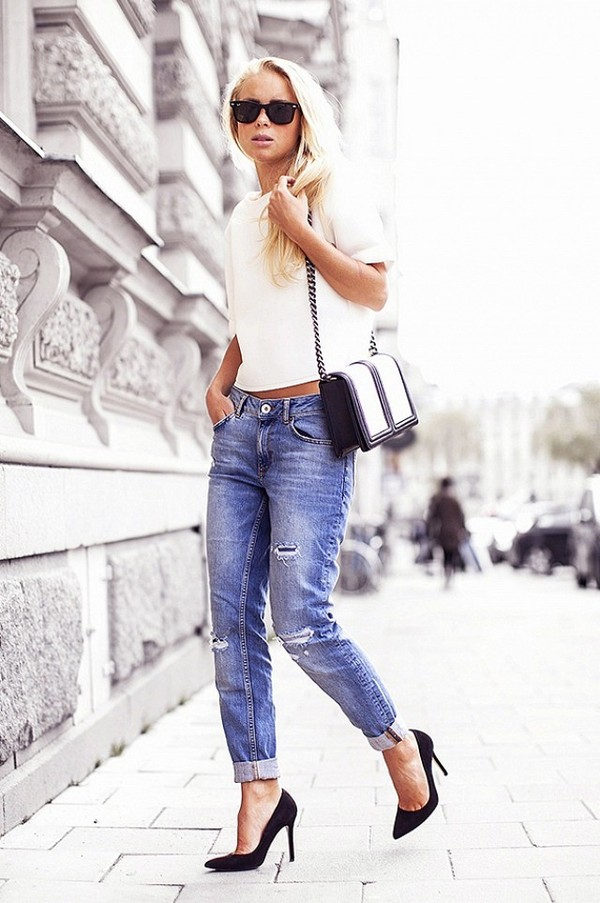 blouse jeans shoes bag