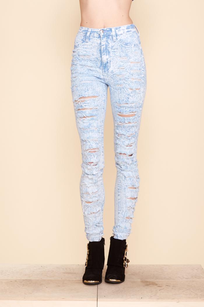 Lite wash shredded jeans | :: Gen X Clothing :: Affordable Fashion Trends