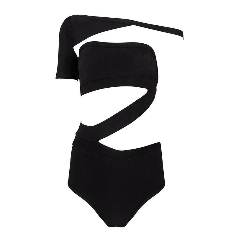 Strappy Sleeve Vixen Black Swimkini — GIRL CRUSH BOUTIQUE