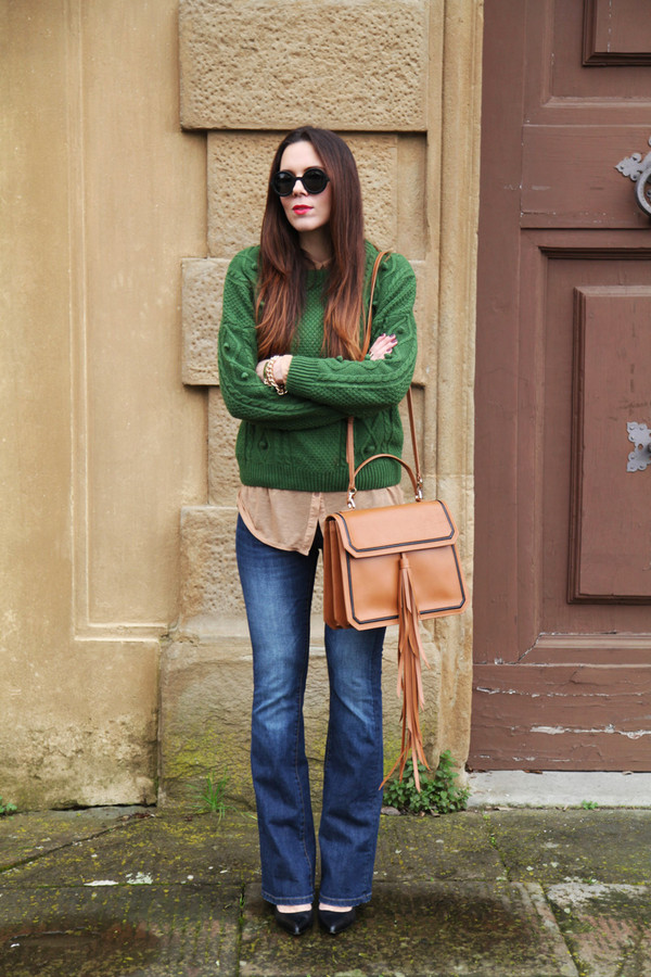 irene's closet bag jeans shoes sweater sunglasses