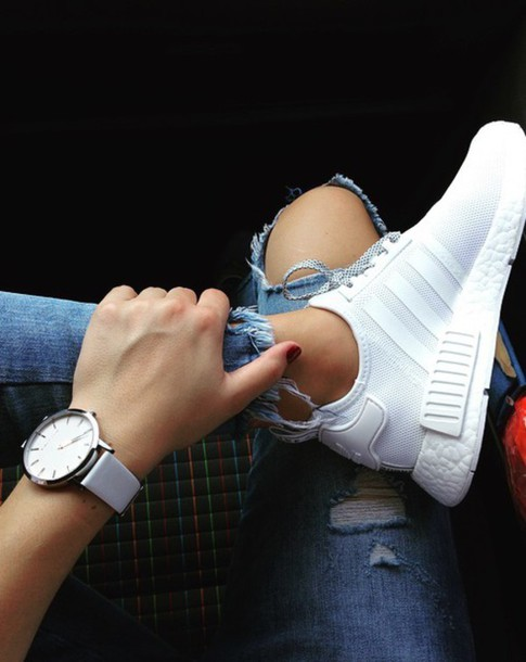 tgydcd Shoes: white, adidas, nmd, sneakers, jeans, watch, girl, love