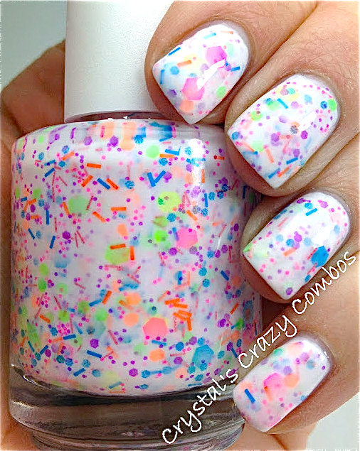Haywire  CustomBlended NEON Glitter Nail Polish / by PolishMeSilly