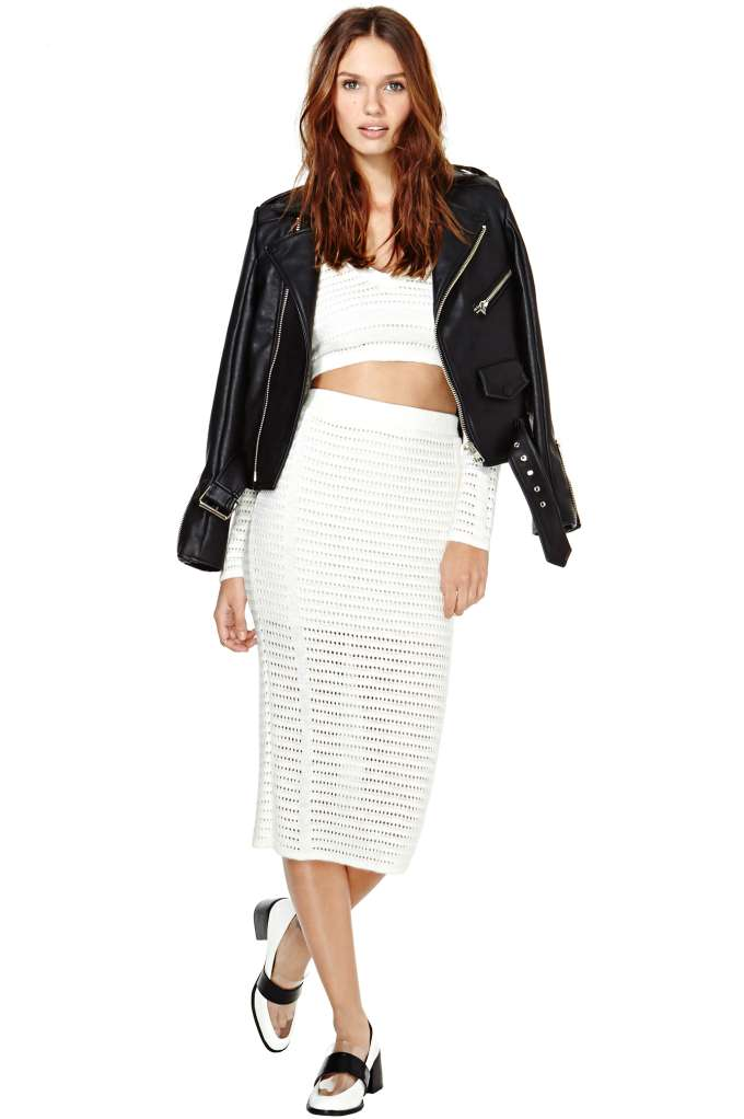 Marcelle Knit Midi Skirt   Shop What's New at Nasty Gal