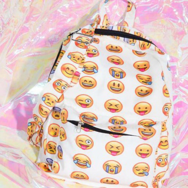 bag emoji print backpack
