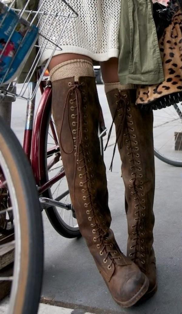 shoes lace up boots