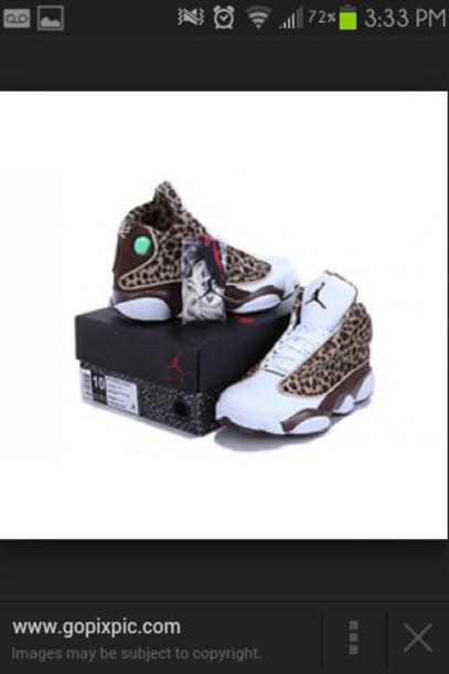 shoes jordans leopard print