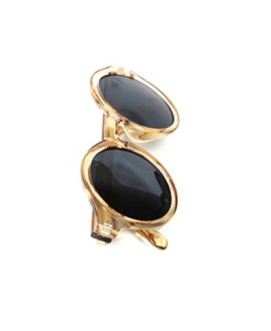 Vintage Transparent Round Sunglasses