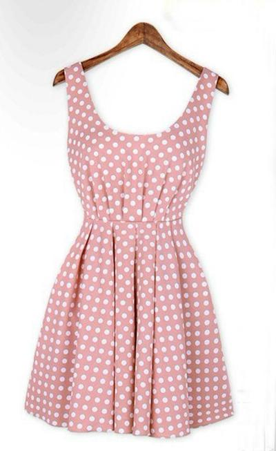 Polka Dot Vintage Backless Sleeveless Dress With The Back Invisible Zipper · Humbly Glam · Online Store Powered by Storenvy