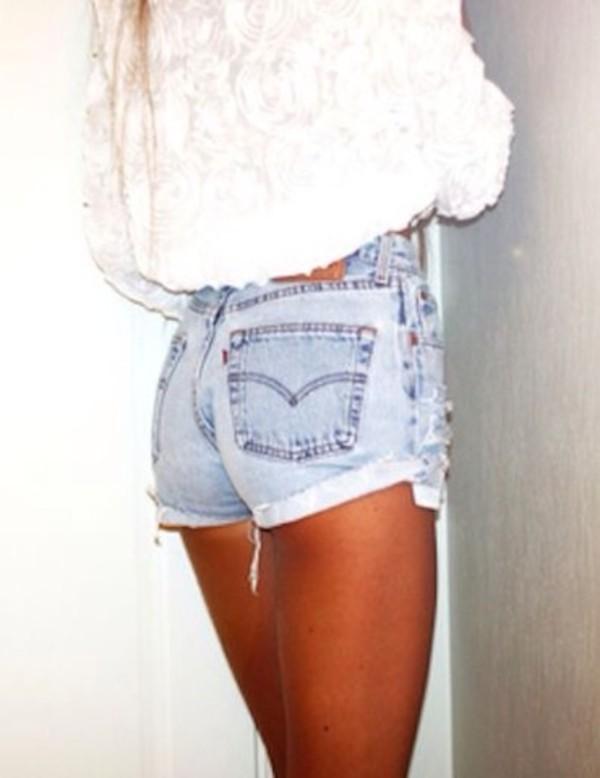 shorts shirt high waisted