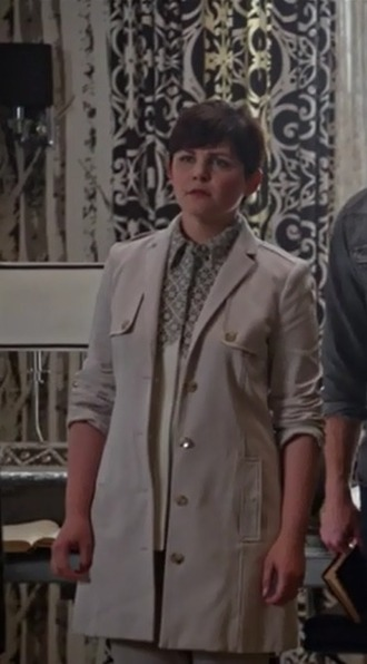 coat mary margaret blanchard ginnifer goodwin sleeveless blouse trench coat once upon a time show