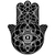 iamVibes Clothing — OVERSIZED HAMSA BLACK