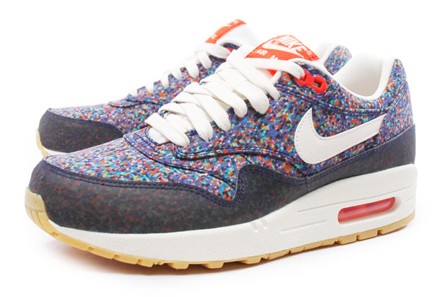 Nike Wmns Air Max 1 ND Lib 528712 400 NSW Running Liberty London Blue Crimson | eBay