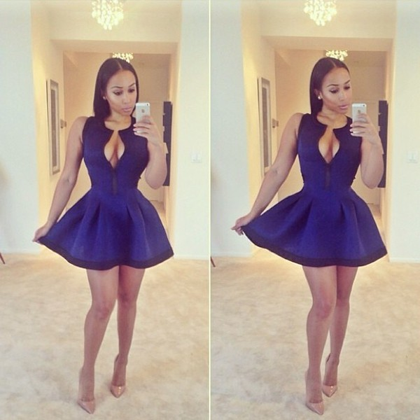 dress skater dress structured flared dress structured navy haute couture