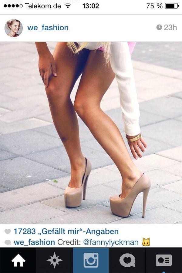 shoes nude beige high cute shoes high heels instagram instagram