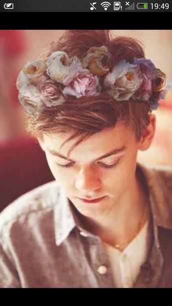 hair accessory couronne fleurie