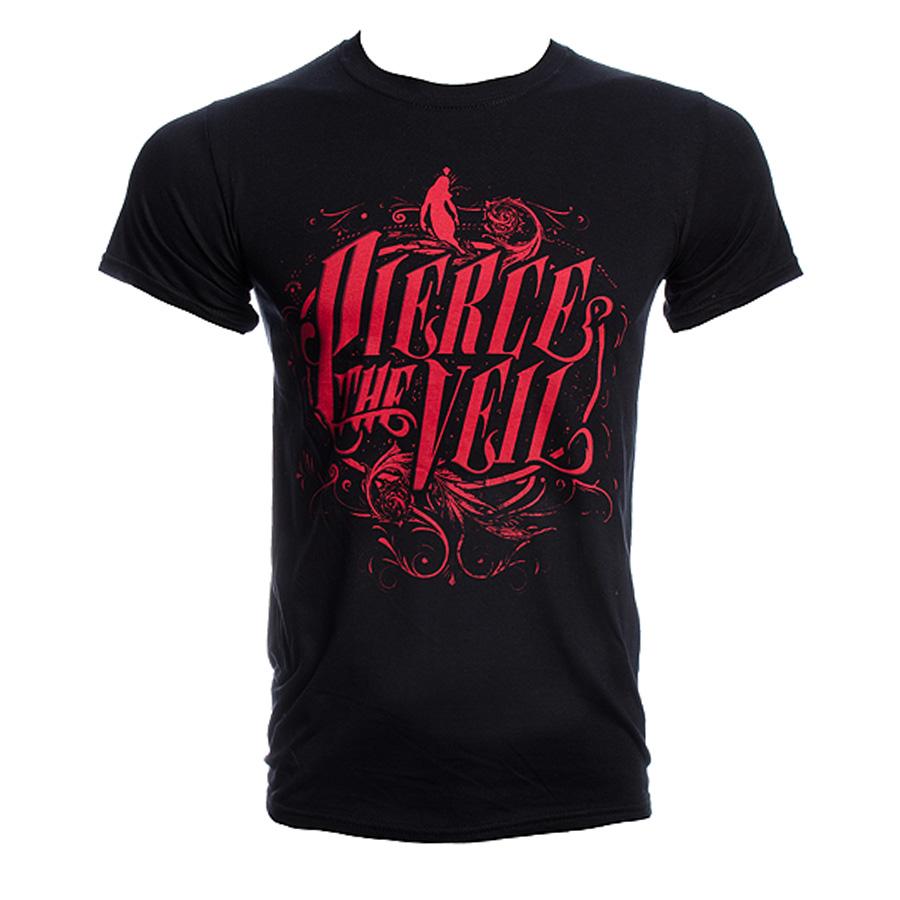 Pierce The Veil Logo T Shirt, band merchandise, Pierce The Veil Tee UK