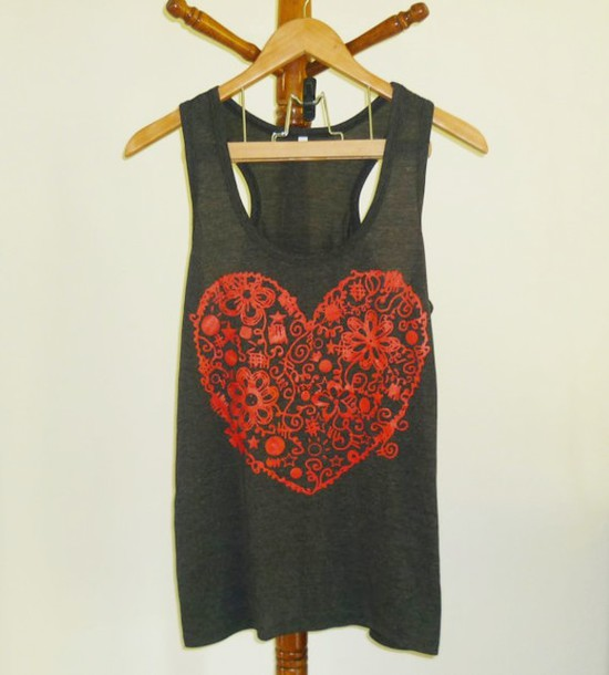 tank top singlet sleeveless top clothes red and black black and red