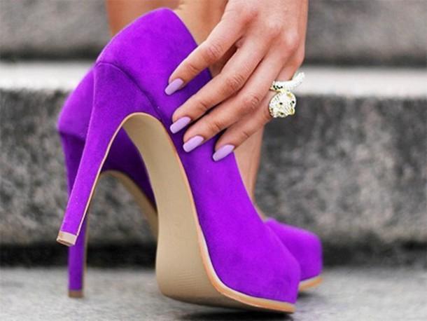 shoes purple heels high heels