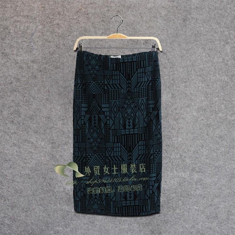 Single flock printing geometry elastic sexy slim hip slim dress step fish tail skirt sweet half length c833-inSkirts from Apparel & Accessories on Aliexpress.com