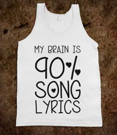 90% Song Lyrics - Stellar Shirts - Skreened T-shirts, Organic Shirts, Hoodies, Kids Tees, Baby One-Pieces and Tote Bags Custom T-Shirts, Organic Shirts, Hoodies, Novelty Gifts, Kids Apparel, Baby One-Pieces   Skreened - Ethical Custom Apparel