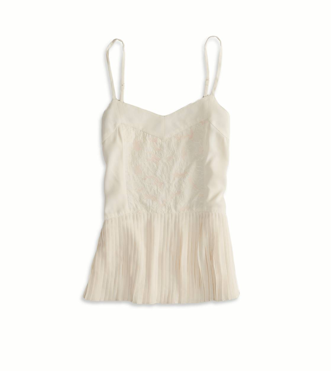 AE Embroidered Ruffle Cami | American Eagle Outfitters
