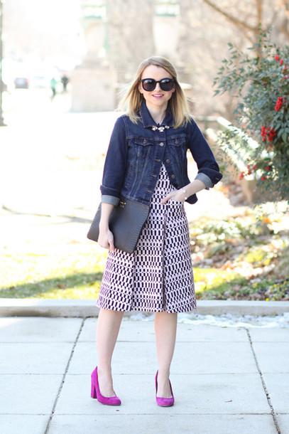 poor little it girl blogger dress jacket jewels bag