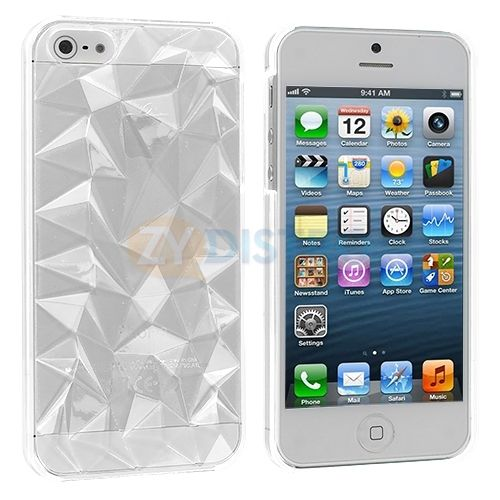 Clear Crystal 3D Diamond Hard Ultra Thin Case Skin Cover for iPhone 5 5S 5th | eBay