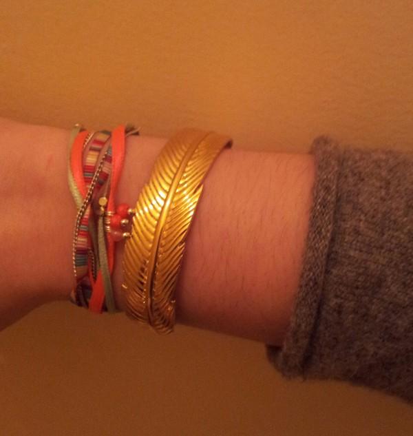jewels dor gold leaves orange argent gold bracelet bracelets cute
