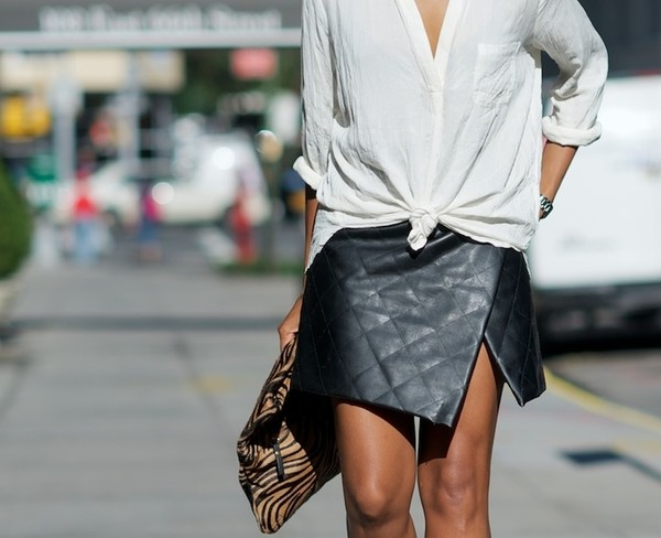 skirt black leather skirt quilted skirt ici fashion