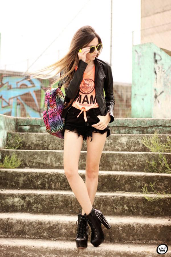 fashion coolture t-shirt shorts jacket jewels shoes